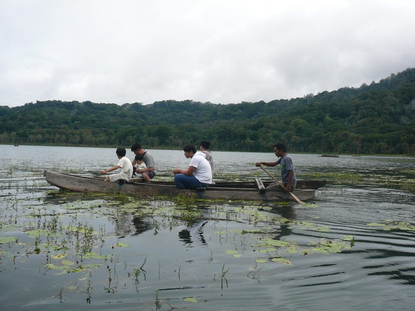 Canoeing at Tamblingan Lake